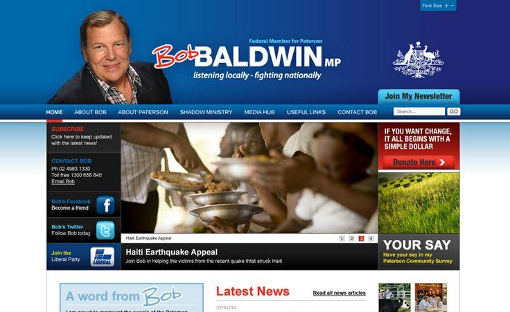 Website design for Bob Baldwin MP. #websitedesign #webdesign #web #design #graphicdesign #website #websites
