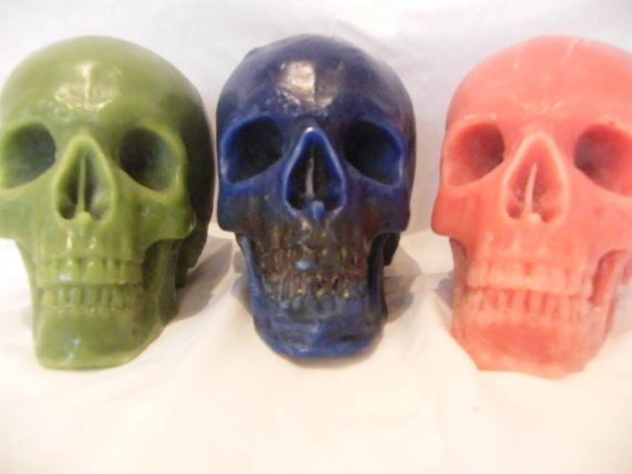 Large Handmade Everlasting Skull Candle available by artofcandles, £18.99