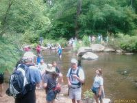 Hiking Along Cahaba River During the Lilly Bloom