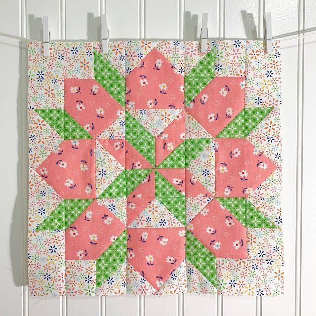 Grandma S Star Quilt Block Tutorial With Farm Girl Vintage Fabric Bee In My Bonnet Bloglovin Star Quilt Blocks Quilt Block Tutorial Star Quilt Patterns