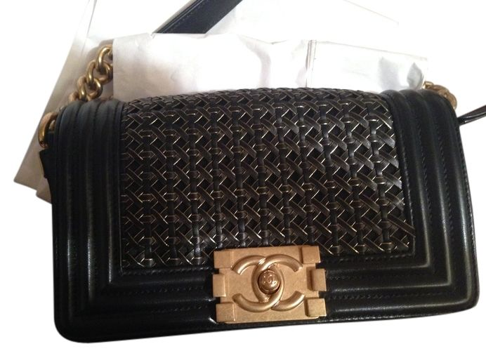 Chanel Small Braided Sheep Skin With Gold Hardware Le Boy Classic Flap Sale Sold Out Runway Style Rare Black Cross Body Bag. Get the trendiest Cross Body Bag of the season! The Chanel Small Braided Sheep Skin With Gold Hardware Le Boy Classic Flap Sale Sold Out Runway Style Rare Black Cross Body Bag is a top 10 member favorite on Tradesy. Save on yours before they are sold out!