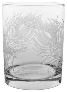 Peacock DOF 14oz, Set of 4 - contemporary - cups and glassware - Rolf Glass