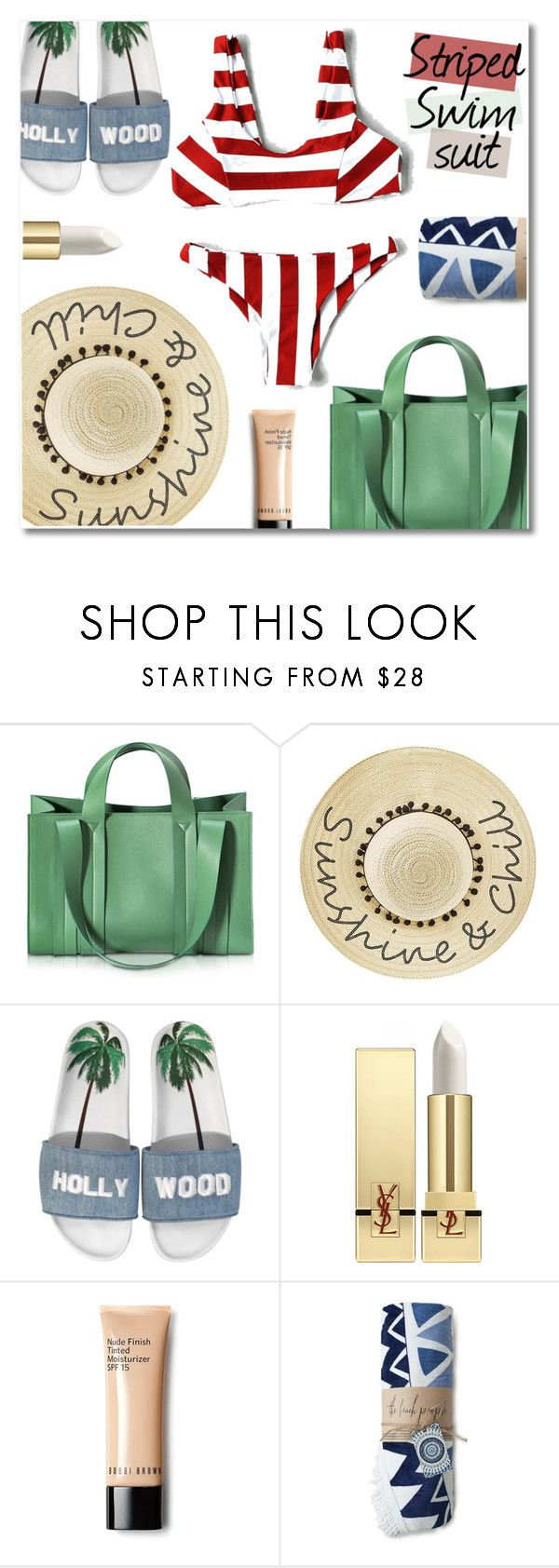 """Sand in my hair"" by sunshineb on Polyvore featuring Corto Moltedo, Betsey Johnson, Joshua's, Yves Saint Laurent, The Beach People and shein"