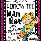 *This product is part of a bundle found here.  Finding the Main Idea with Non-Fiction Texts  (comes with  20 different non-fiction passages with an...