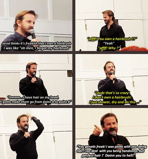 Richard convention panel talking about Jared