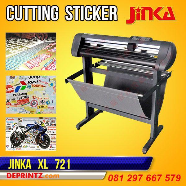 Mesin Cutting Sticker JINKA 721 XL adalah Mesin Cutting Plotter JINKA tipe TERBARU, Tipe XL memiliki keunggulan Model lebih Bagus, Hasil Potong lebih Optimal, Body Lebih besar, Suara Mesin lebih halus, Memory Internal lebih Stabil, dan memiliki Sensor Infra Red yang bisa digunakan untuk Print & Cut. Mesin Cutting Plotter ini mampu memotong dengan area lebar Bahan 720mm dan area lebar potong 610mm. Harga PROMO : Rp. 5.599.000,-