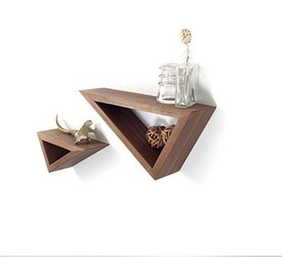 Floating Walnut Shelves   These handmade floating Black Walnut wooden shelves have a clean sharp look, and add geometrical asymmetry to any...