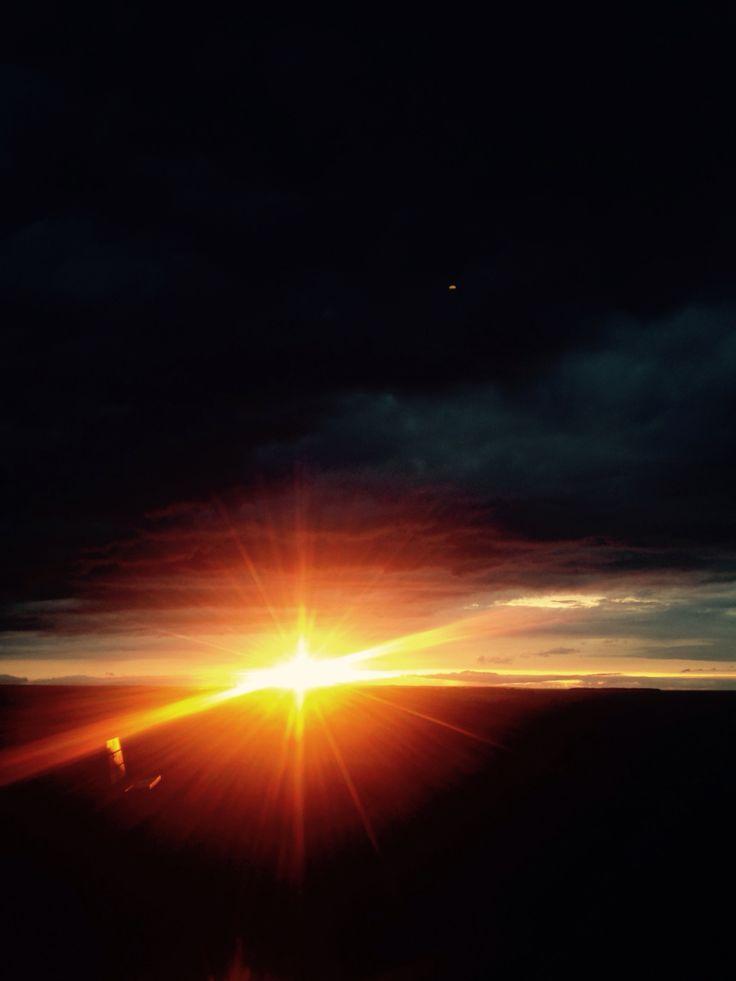 Magnifique coucher de soleil au lac St jean ⛅️☀️
