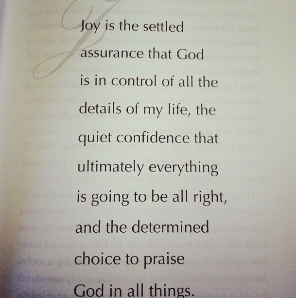 Main point of #choosejoy devotional message! Truly uplifted by this definition of #joy #kaywarren #saddleback