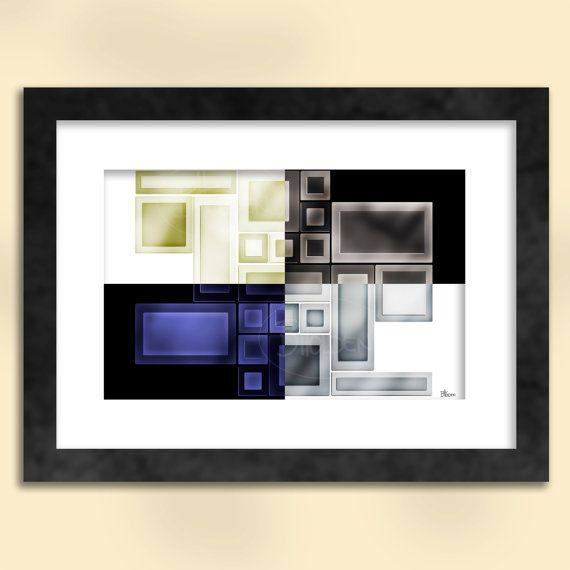 Negative Positive Abstract Art Print by SapphireMoonArt on Etsy