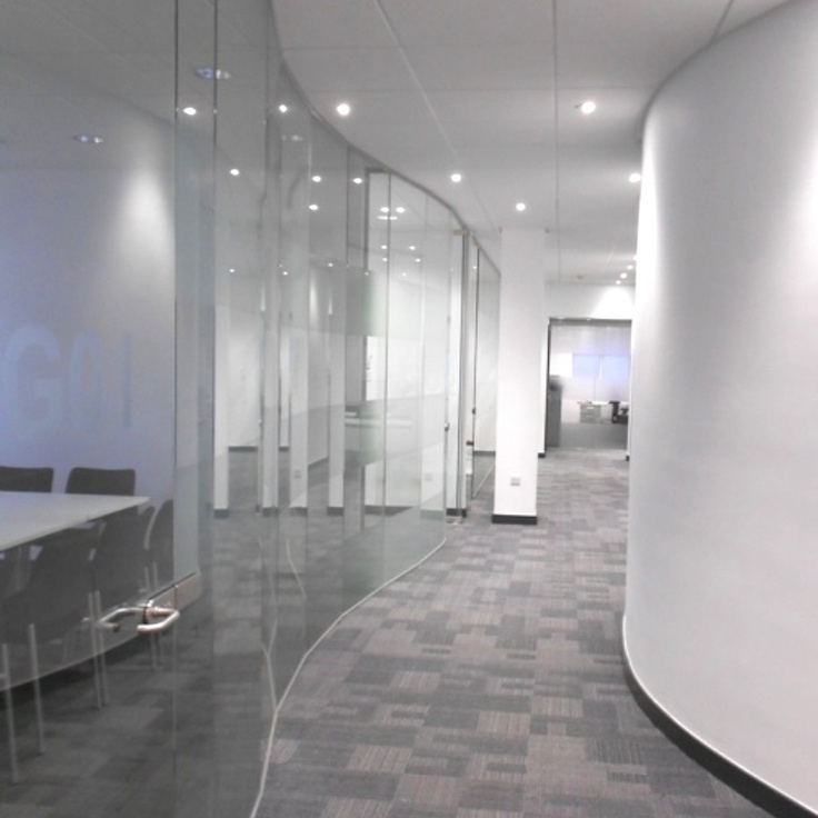 20 best images about the clearest glazed partitioning you for Curved wall