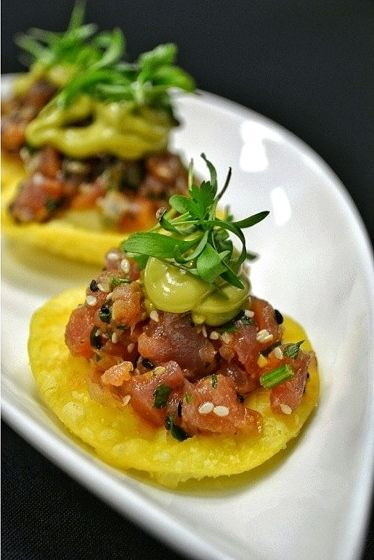 Enjoy Tuna Poke at our restaurant Key Bridge Terrace. {HYATT Arlington}
