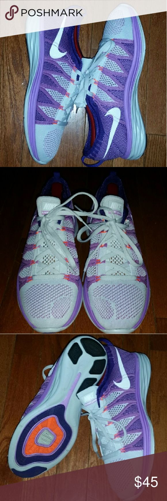 Women's Nike Lunar Flyknit 2 Women's Nike Lunar Flyknit 2 size 8 great condition no rips stains or tears shoes have been worn 2 or 3 times only to the gym Nike Shoes Athletic Shoes