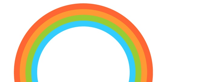 the april rainbow