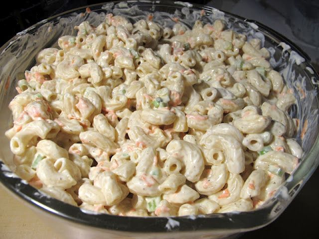 Hawaiian Macaroni Salad Recipe Notes: Very similar to L! You MUST allow time for the sauce to absorb, and this can take quite a while. Suggest making at least two hours before eating and DO overlook the pasta.