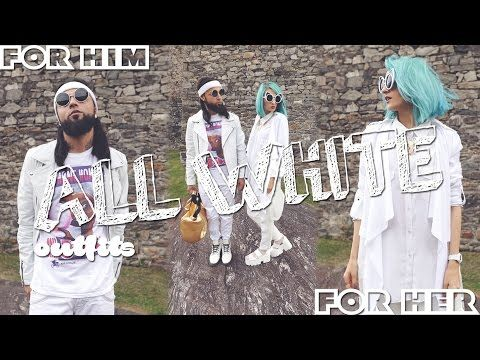 ALL WHITE || MIX & MATCH #coupleversion - YouTube
