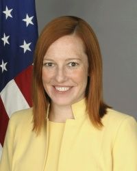 Official photo of Jen Psaki, The White House Communication Director.