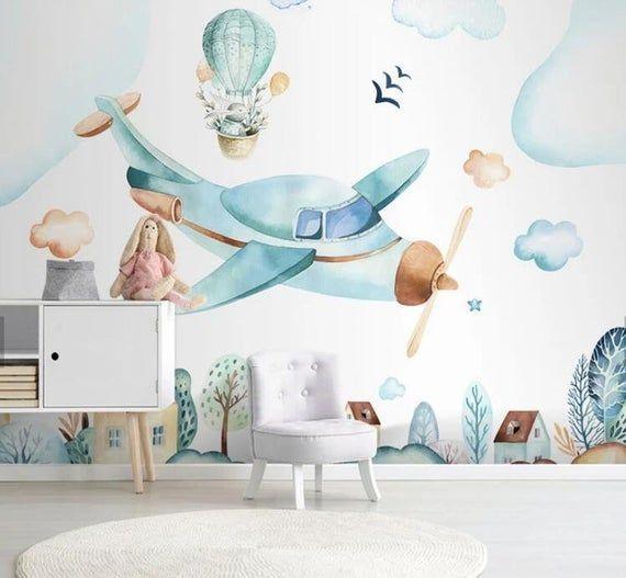 Tag Zusammen Materialien Vinyl Permanent Wallpaper Anwendung Wandverkleidung Abnehmbar Selb In 2020 Wallpaper Walls Decor Nursery Wallpaper Playroom Wallpaper