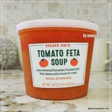 Trader Joe's Tomato Feta Soup $3.99   #TraderJoes #Tomato #Feta #Soup #トレーダージョーズ #トマトスープ #フェタチーズ