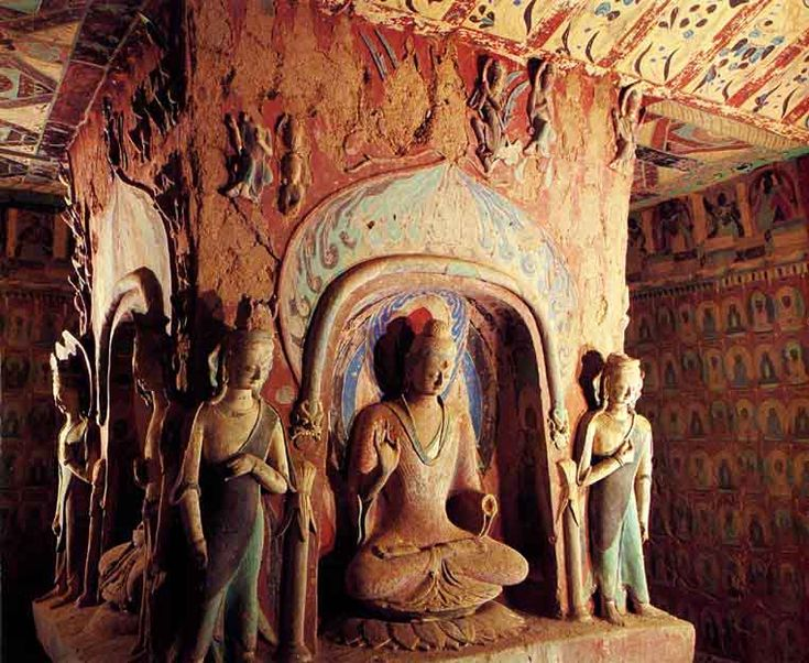 #17 Visit the Dunhuang Caves in China. These caves have existed for thousands of years and are magnificent. They are carved into the side of a cliff and then expertly painted by hand, this it would be spectacular to see in person