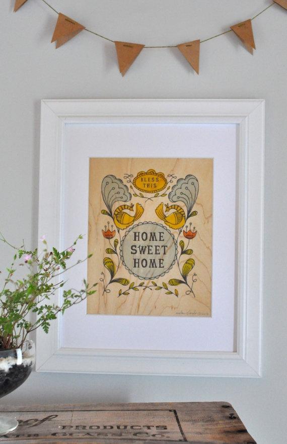 Bless This - Maple Veneer PrintBlessed, Prints Lovers, Maple Veneer, Fab Com, Living Room, Art Prints, Graphics Design, Veneer Prints, Etsy Lovin