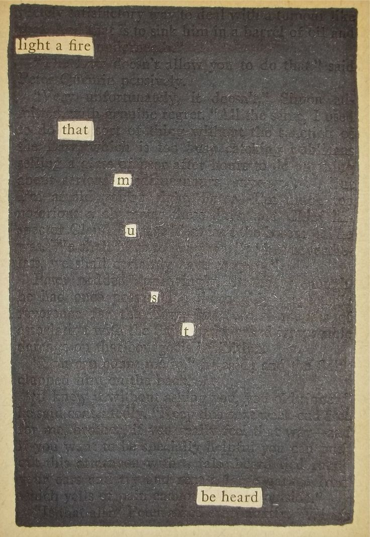 Fire | Black Out Poetry | C.B. Wentworth