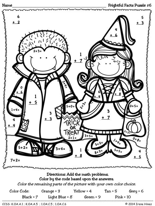 403 best ~ Color By The Code Math \ Language Puzzles ~ images on - best of halloween coloring pages 3rd grade