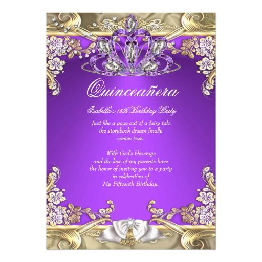 17 Best images about Quinceanera Birthday Party Invitations on – 15th Birthday Invitation