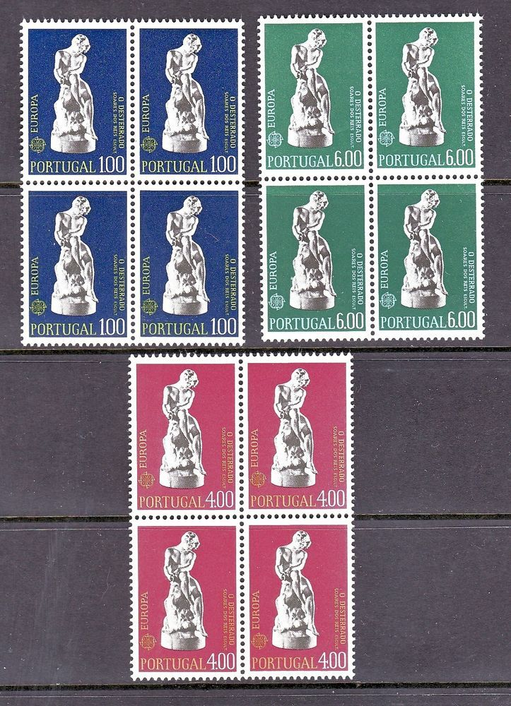 PORTUGAL 1974 SCOTT# 1198 1199 1200 EUROPA CEPT BLOCK OF 4 STAMPS, MNH