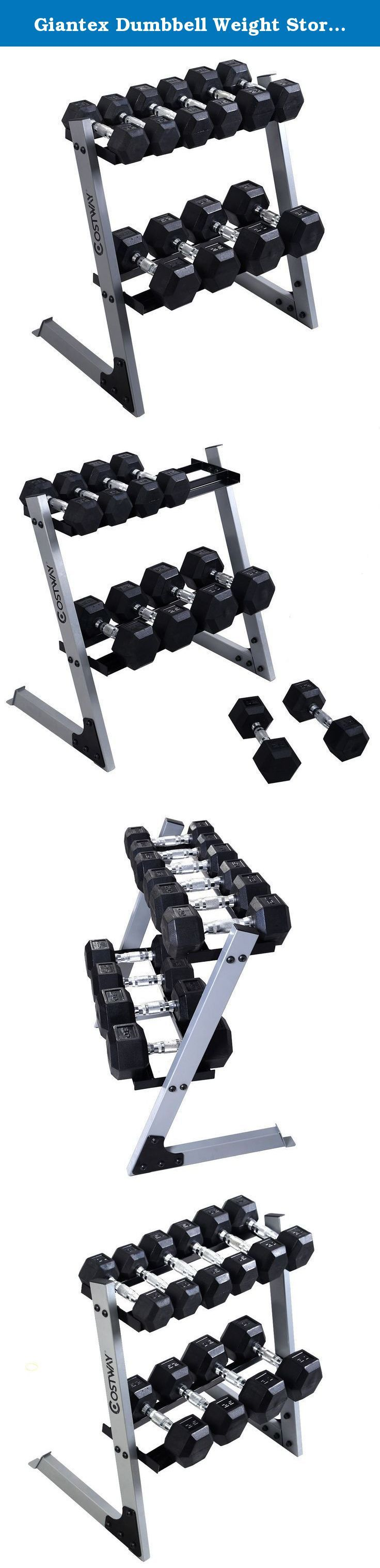 Giantex Dumbbell Weight Storage Rack Stand Home Gym Bench Base W/10 15 20 25 30lb Plates. This Is Our New Weights Storage Rack, Which Is Perfect For Storing Weights For Exercising. It Features Solid Steel Frame And Base, 2-Tier Weights Storage Rack And 10 Dumbbells, Including 2*10LBS, 2*15LBS, 2*20LBS, 2*25LBS, 2*30LBS. Welcome! High Quality With Competitive Price Can Be Realized Here! Note: 1.Simple Assembly Is Required According To The Included Instruction. 2.Please Consider The Weight...