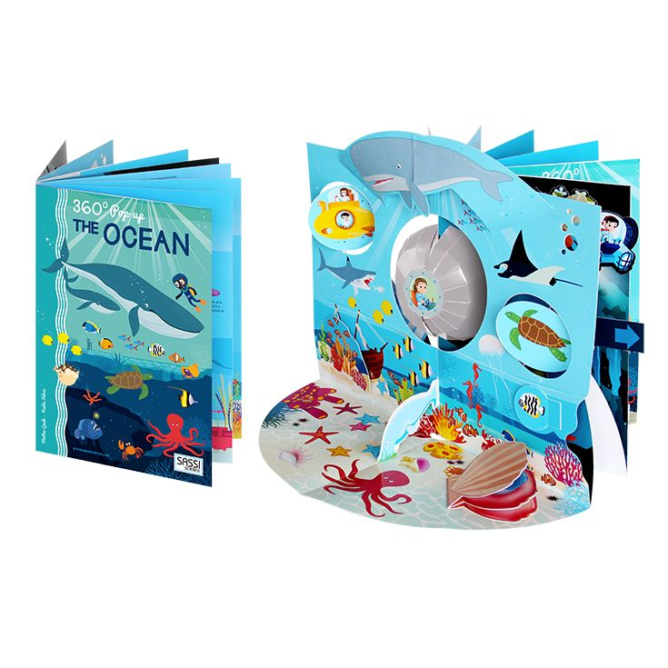 #Sassi Junior: Pop-up 360° - The Ocean. A 8-pages book about the ocean + a 360° pop-up. #eco #friendly #book #game