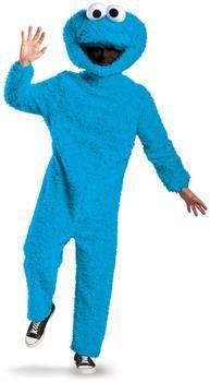 PartyBell.com - Sesame Street Cookie Monster Plush Prestige Adult Costume XL