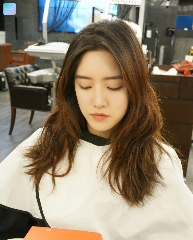 Korea Korean Girls Women Kpop Idol Wavy Layered Hairstyles F Happy Hair Girls Hair Hairstyles Korean Hairstyle Long Layered Haircuts Cool Hairstyles