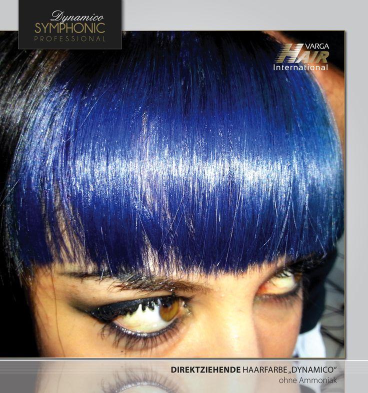 """Wie steht Ihr zu einem intensiven Blau-Ton? Wäre das etwas für Euch?  Symphonic Professional """"Dynamico"""" Blue - Direktziehende Haarfarbe ohne Ammoniak & Oxidierungsmittelfrei (ohne Wasserstoff) anwendbar!  #vargahair #symphonic #color #dynamico #frisur #friseur #style #styling #intensiv  Colorist: Rok Klemenčič"""