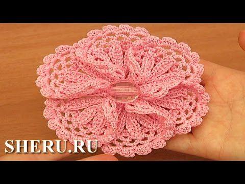 Объемный цветок с ажурными лепестками Урок 99 часть 2 из 2