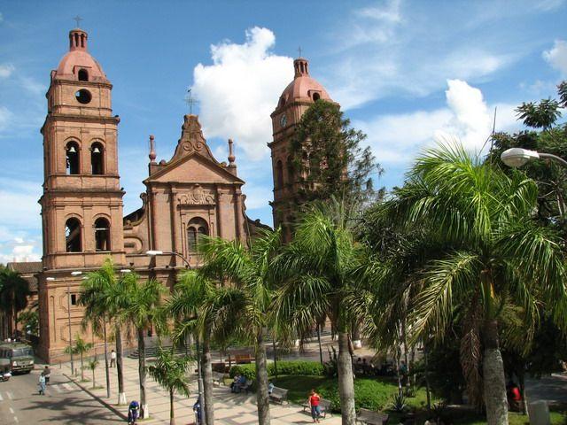 Facade, Santa Cruz, Bolivia, Landolia, a World of Photos Church in Santa Cruz de La Sierra, capital city of the Santa Cruz department in eastern Bolivia