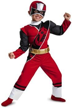 PartyBell.com - Red Ranger Ninja Steel Toddler Muscle Costume