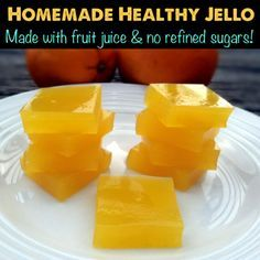 Home-made healthy 'Jello' with no refined sugars. Made with fruit juices and beef gelatin. Paleo/primal friendly.