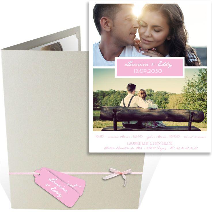 top wedding invitations016%0A Faire part mariage pochette moderne que vous pourrez personnaliser avec la  couleur de votre choix