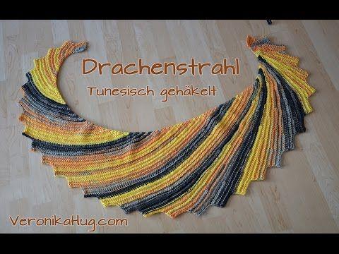 ♡• Drachenstrahl tunesisch gehäkelt - Anleitung von Veronika Hug •♡