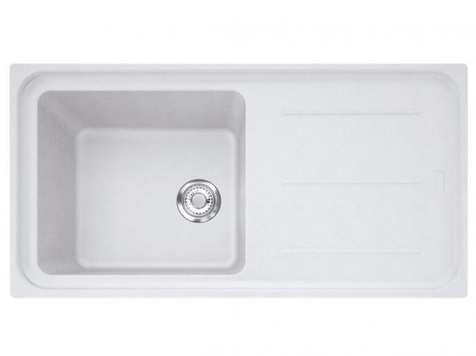 Franke Impact Sink : Franke Impact IMPACT GRAN SGL BWL W/DRAINER 0TH POL WH