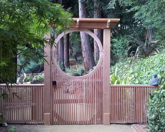 moon gate with asian inspired gate latch asian landscape san francisco 360 yardware