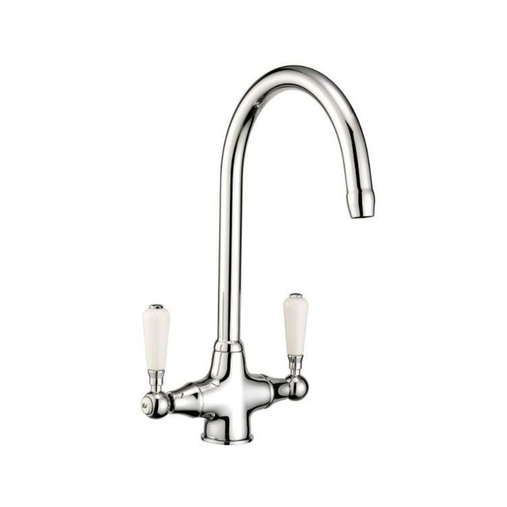 Taps Uk Kitchen Sinks Part - 45: Reginox Elbe Chrome Traditional Twin Lever Kitchen Sink Mixer Tap - Reginox  From TAPS UK £