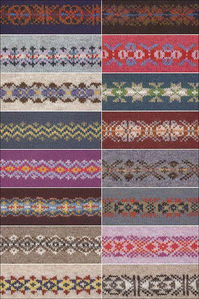 fair isle motifs.