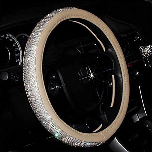 #Full #Sparkly #Rhinestone #car #Steering #Wheel #Cover #Leather #Steering #Wheel #Cover Auto #Car #Styling #Interior #Decor #Accessories Measured Diameter 15inches (38CM) ,Support most standard #car #steering #wheel ; Suit for diameter 38CM #steering #wheel. Made of exquisite artificial #Leather and hotfixed top quality rhinestones Hand made bling diamond crystal #rhinestone PU leahter #steering #wheel #cover for girls,women,ladies. https://automotive.boutiquecloset.com/prod