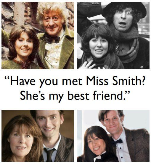 The Doctor & Sarah Jane, only companion with him during 4 regenerations <3 <3