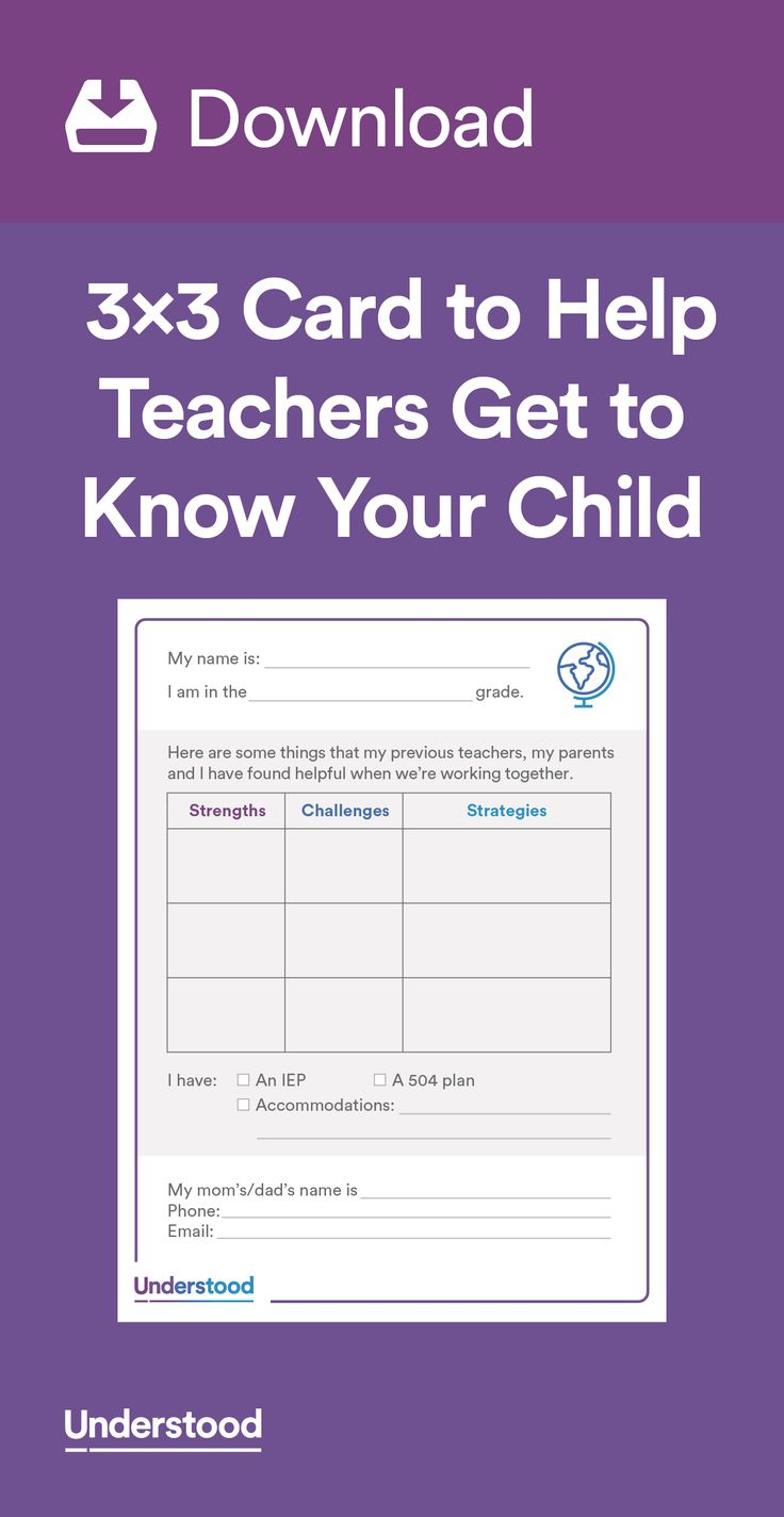 17 best images about back to school teaching 3×3 card to help teachers get to know your child