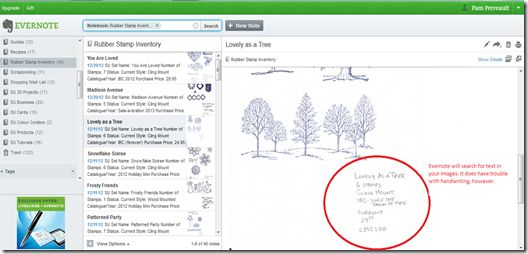 "Blog ""tutorial"" on using Evernote to catalog stamp sets"