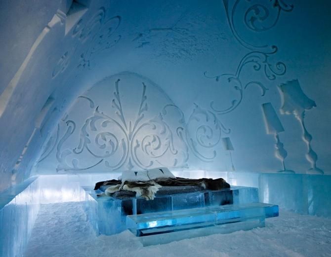 Slapen in een ijshotel!