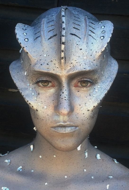 SFX, Prosthetics, Alien, Futuristic, Surrealism, My own creation! Brushstroke Makeup School